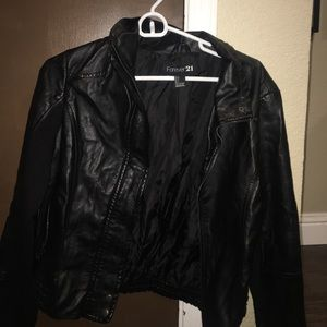 New forever 21 leather jacket! Very cute!